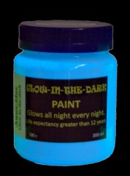 Glow-in-the-dark Paint: GID Aqua-blue
