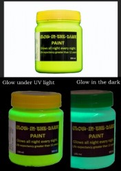 Glow-in-the-dark Paint: UV & GID Yellow/Green