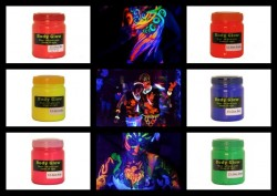 Bright Neon UV Body Glow Paint