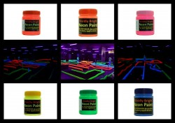 Bright Neon-UV Paints