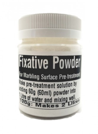 Fixative Powder for Marbling