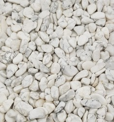 Howlite White Small Tumbled Stones – Matt