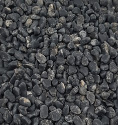 Black Onyx Small Tumbled Stones - Matt