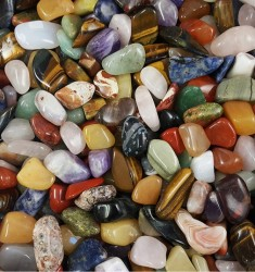 Mixed Small Tumbled Stones - Glossy