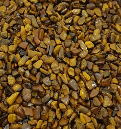 Yellow Tiger's Eye Small Tumbled Stones – Glossy