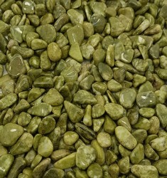 Snow Flake Epidote Small Tumbled Stones – Glossy