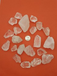Natural Clear to Milky Quartz Crystal Chunks