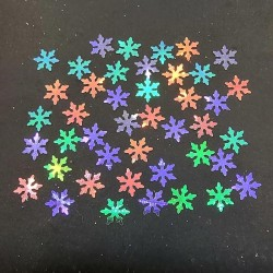 Holographic Snowflake Glitter Flakes